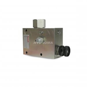 ventil škrtiaci - trojcestný s poistným ventilom